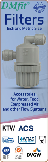 DMfit quick fit fittings filters acetalic resin metric inch size food&drink beverage compressed air flow systems