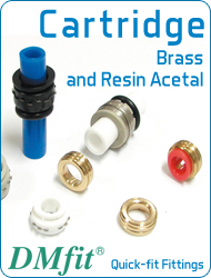 DMfit quick fit fittings cartridges acetalic resin brass metric inch size food&drink beverage compressed air flow systems