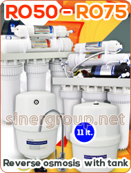 RO50 RO75 reverse osmosis with tank TDS regulator Membrane 50gpd Membrane 75gpd Pump System UV water purifier