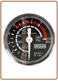 "Replacement Co2 pressure gauge OD 40 0-10,0 Bar OT 1/8"" back connection"