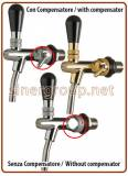 Palmer replacement water faucets G5/8X35X10 with or without compensator chrome, gold plated