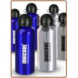Ionicore aluminum water bottles 650ml. blue and grey