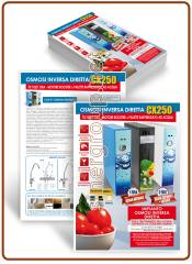CX250 Reverse Osmosis A4 glossy coated paper 250gr. printed flyers - ITA.