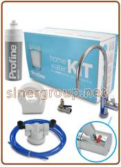 Profine SILVER small KIT system antimicrobial carbon block 0,5 micron water filters, head, faucet