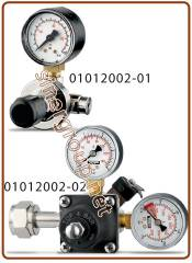 "XS Co2 pressure reducer rechargeable cylinder 7 BAR IN: W21,8-14FIL.X1"" Key 30 - Out: 1/4"" f. thread"